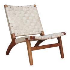 Leather Lounge Chair, Natural, Royal Mahogany