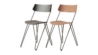 Handmade Ibsen 2-Piece Chair Set, Natural Oak and Slate Gray