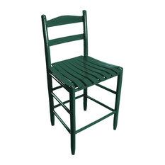 Penrose Wood Ladderback Counter Stool 1224S Green