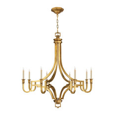 Mykonos Large Chandelier, Antique-Burnished Brass