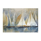 "Sailboats On Water Canvas Wall Art, 32""x48"""