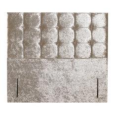 Cube Floor Standing Headboard, Crush Mink, UK Super King