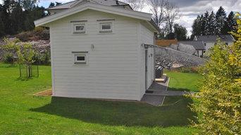 Attefallshus 25m2 med förhöjt väggliv och stort loft