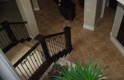 Noce Brushed & Chiseled Travertine Floor