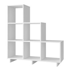 Bowery Hill 6-Cubby Bookcase, White