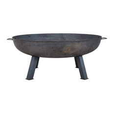 Raw Steel Fire Pit, Large