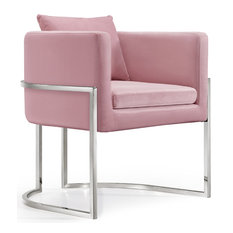 Pippa Velvet Accent Chair, Pink