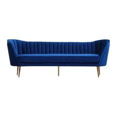 MOD - Karis Velvet Sofa, Navy - Sofas