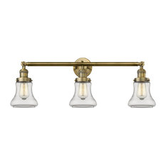 Innovations Bellmont 3-Light Dimmable LED Bathroom Fixture, Brushed Brass
