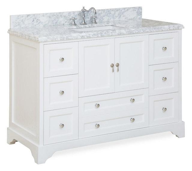 Madison Bath Vanity White 48 Top Carrara