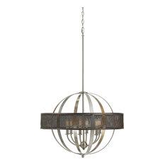 Cal Lighting Willow Chandelier, Brushed Steel