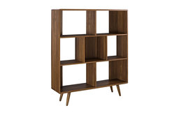 Transmit Bookcase, Walnut