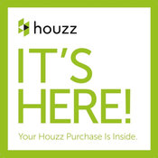 "Houzz Square Sticker, Small 4""x4"""