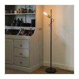 Modern Floor Lamp Black with Brass - Slide