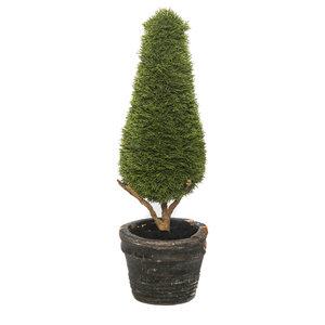 Artificial Green Topiary Tree Cone