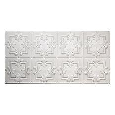 """24.5""""x48.5"""" Yesler Tin-Style Ceiling Tile, White"""