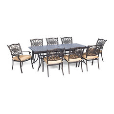 9-Piece Dining Set With 8 Dining Chairs and An Extra-Long Dining Table