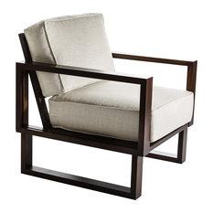 Twist Modern Espresso Frame Lounge Chair