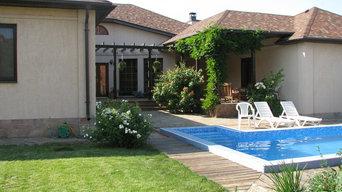 Одноэтажный дом в средиземноморском стиле