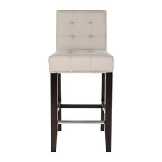 Safavieh Thompson Counter Stool Fabric With Nail Head Taupe