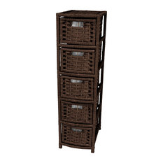 """40"""" Natural Fiber Occasional Chest of Drawers, Mocha"""