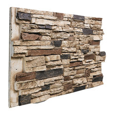 Architectural Superstore - Deep Stacked Stone Wall Panel, Honeycomb - Siding and Stone Veneer