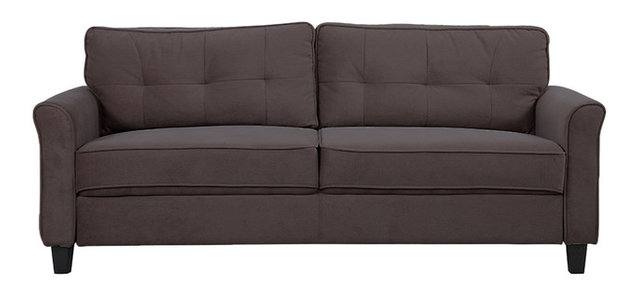 Classic Ultra Comfortable Microfiber Fabric Living Room Sofa ...