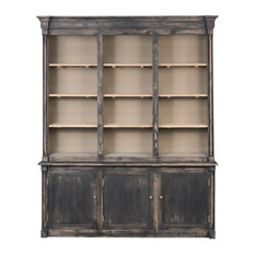 Bookcase, Brothers, Black Rubbed
