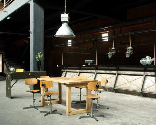 vintage industrial houzz. Black Bedroom Furniture Sets. Home Design Ideas