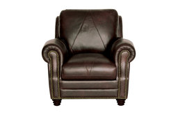 Genuine Italian Leather Chair in Chocolate Brown
