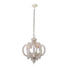 Crown Wood Chandelier