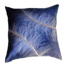 Ostrich on Twilight Pillow, 51x51cm