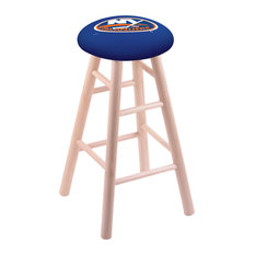Maple Counter Stool Natural Finish With New York Islanders Seat 24-inch