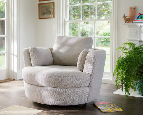 Snuggle Petite® Swivel Chair - Fabric - Mode Mondo Almond - Products & Snuggle Chair islam-shia.org