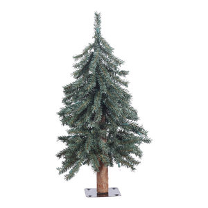 Tree With Metal Stand, Tree: Green, Unlit, 2'