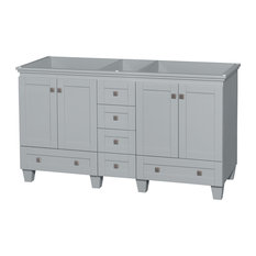 "Acclaim 60"" Double Bathroom Vanity, Oyster Gray, No Countertop, No Sinks"