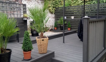 Charcoal composite relaxing decking area
