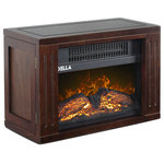 """Della - 9"""" Mini Fireplace Electric Heater 750Watt - Bring the beauty and warmth of a fireplace with you wherever you go with this portable mini electric fireplace heater. Now you'll be able to stay cozy any where in your home, office and more. Now you can experience the advantages of a fireplace without the dangers. Adding warmth and classic style to your home or office has never been easier. With two different heat settings, realistic log display convenient portability, you can transform any area into a cozy, warm space."""