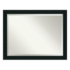 "Bathroom Mirror, Fits Standard 36-48"" Cabinet, Corvino Black, 45""x35"""