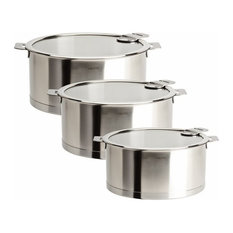 Cristel Strate Removable Handle, Set of 3 Saucepans With Lids