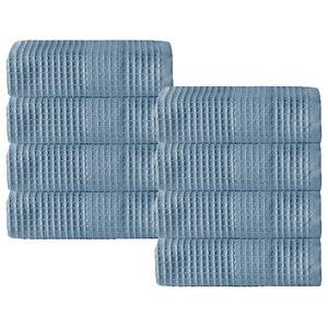 Enchante Home Ria Wash Towel Set, Set Of 8, Navy
