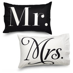 Contemporary Pillowcases And Shams by Where The Polka Dots Roam