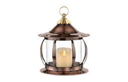 San Simeon Decorative Candle Lantern Holder, Table Top Patio Deck