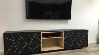 Meuble TV valchromat et laiton
