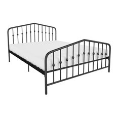Novogratz Bushwick Metal Bed, Black, Full