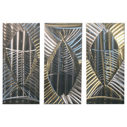 Popular Contemporary Mixed Media Art Metal Wall Art Modern Abstract Suclpture Silver Fish