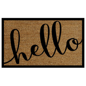 2 X3 Hello Doormat Contemporary Doormats By