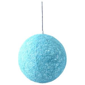Sphere Globe Floor Lamp, Blue, Large