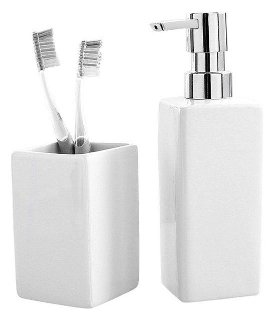 Porcelain Bathroom 2 Piece Set, White