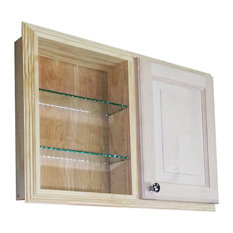 "54"" Recessed Double Door Baldwin Pantry Storage Cabinet 3.5""d"